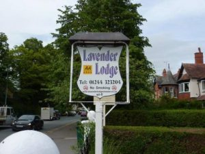 lavender lodge, bed and breakfast, chester, cheshire